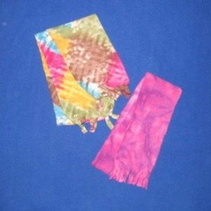 Other - Set of 2 Hand-Cut Fleece Scarves